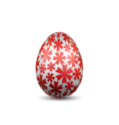 easter egg 3d icon silver color egg isolated vector image