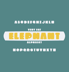elephant font alphabet vector image