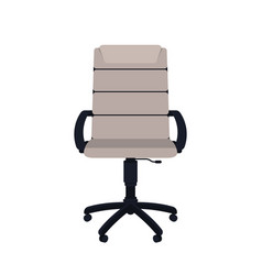empty office chair isolated on white background vector image