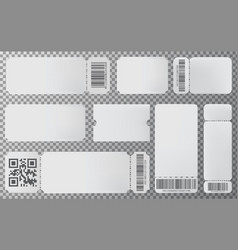 Empty ticket template for movie concert showing vector
