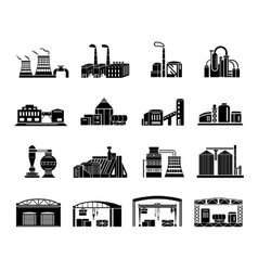 Factory and production buildings vector