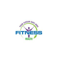 fitness health logo design vector image