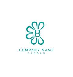 flower b logo vector image