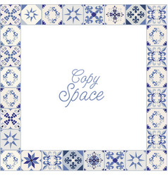 frame hydraulic tiles typical spain italy vector image