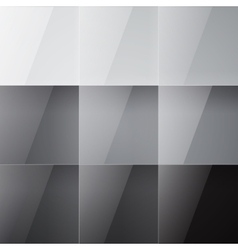 Gray shiny squares abstract background vector image