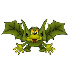 Green Flying Bat vector