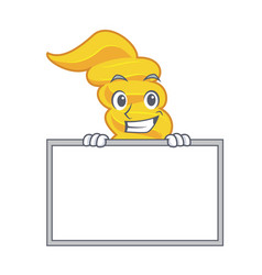 Grinning with board fusilli pasta character vector