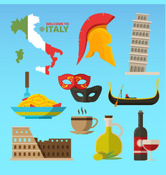 Historical symbols of rome italy vector