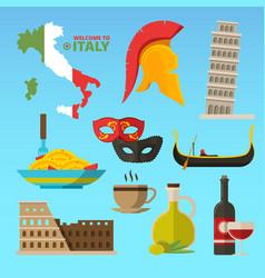 historical symbols rome italy vector image