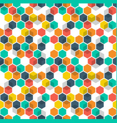 Honeycomb background seamless pattern with vector