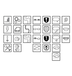 Icon Set Random vector