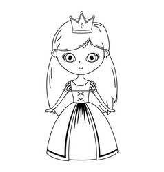 Isolated medieval princess design vector