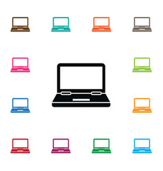 isolated monitor icon computing element vector image