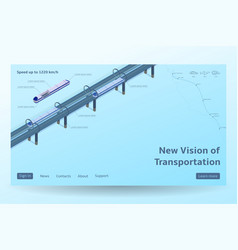 isometric hyperloop transport concept vector image