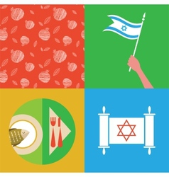 Jewish New Year Holiday - Rosh Hashahah vector