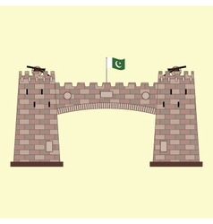Khyber Pass in Pakistan vector
