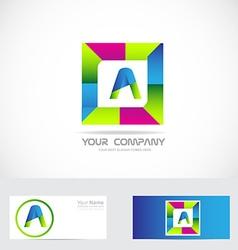 Letter A square logo vector image
