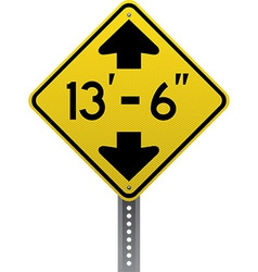 Low clearance sign vector