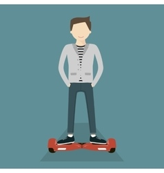 Man on Hoverboard vector image