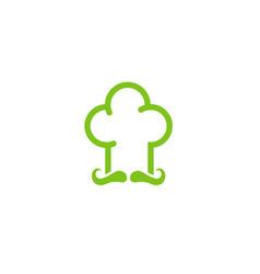 master chef green hat logo vector image
