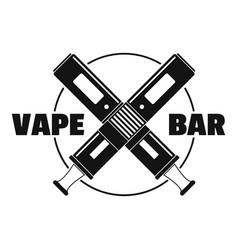 modern vape bar logo simple style vector image