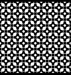 Monochrome seamless pattern ornament texture vector