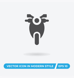 motorcycle icon simple car sign vector image