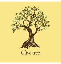 Natural olive tree with branches for sticker vector image