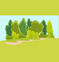 nature landscape with tree family hiking vector image