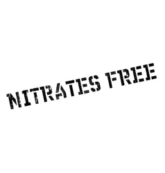 Nitrates Free rubber stamp vector image