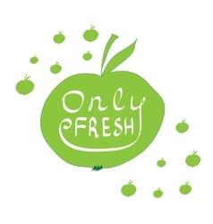 Only fresh hand lettering vector