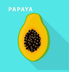 papaya icon flat style vector image
