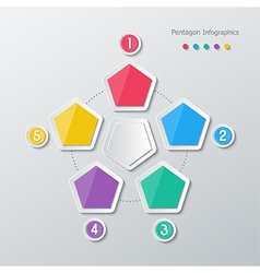 paper polygon infographics vector image