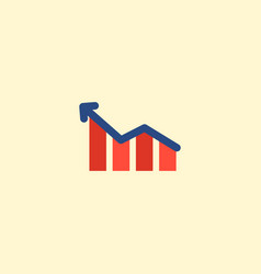 profit icon flat element of vector image