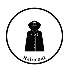 Raincoat icon vector