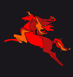 red horse vector image