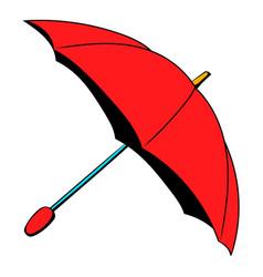 Red umbrella icon cartoon vector