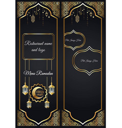 Restaurant menu for ramadan vector