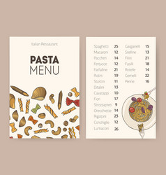 Restaurant or cafe dining menu template with plate vector