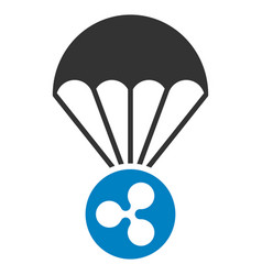 Ripple parachute flat icon vector