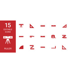 Ruler icons vector