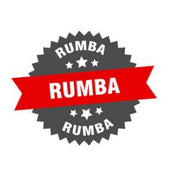 Rumba sign rumba circular band label round rumba vector