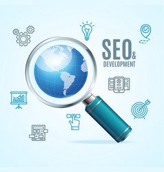 Search engine seo concept vector