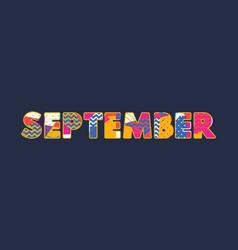 September concept word art vector