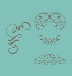 set of vintage frames on a white background vector image