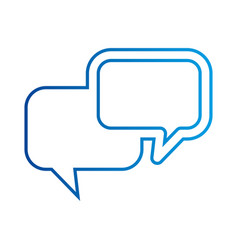 speech bubbles dialog chat message communication vector image vector image