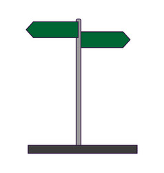 street sign post symbol vector image