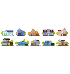 suburban houses living real estate house modern vector image