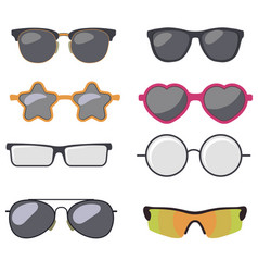 Sunglasses set summer eyewear vector