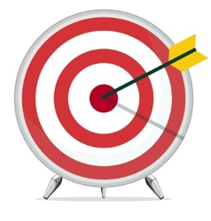 Target with an Arrow in the Center vector image